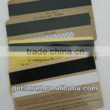Latest Beautiful Card!! Best Quality SGS Approval Gold Silk-Screen Printing Magnetic Strip PVC Business Card