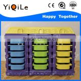 Costom wholesale light weithgt storage cabinet cheap price plastic storage cabinet for children