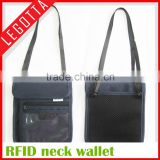 RFID blocking passport holder stash pouch money security travelling neck wallet