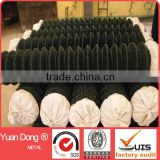 Green vinyl coated chain link fence / used chain link fence from YuanDong
