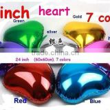 Plain Solid foil balloons , Helium Balloon Supplies Green Heart Foil Balloon in 7 colours Red Pink Gold Silver Blue Green Purple