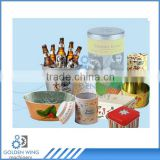 Semi Automatic Tea Gift Candy Ice Bucket Piggy Bank/Money Box Tin Can Making Machine Production Line