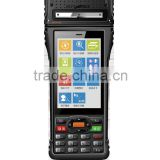 Android pos terminal support 3G/WiFi/RFID reader/Barcod scanner/build-in thermal printer/PSAM with rechargeable battery