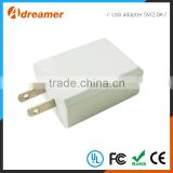 China supplier US Plug wholesale cell phone 5v 2a usb wall charger