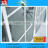 High Quality 1.3-19mm Folding Door Glass Bullet Proof Sliding Bifold Glass Door & AS/NZS2208