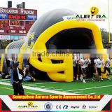 New finished inflatable football tunnel as Inflatable Helmet Tunnel Tent for sports game