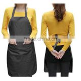 Summer Shop! Unise 2 Pocket Black Kitchen Apron Bib, One Size in Medium