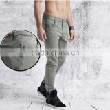 High-end Fashion Spring Men Grey Solid Chino Trousers