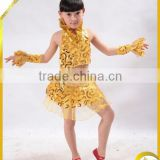 2014 Girls yellow kids square dance dress