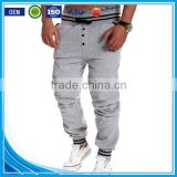 OEM bulking buy closed bottom polyester/cotton yarn custom jogger pants balloon pants men