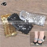 Black Silver Gold Sequins Elastic High Heel Straps /adjustable leather shoe straps/ Shoe Band Shoes Decor Accessories