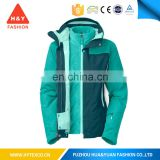 Functional waterproof women ski parka / women's new winter jacket/ Ladies 3 in 1 Waterproof Jacket