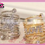 Women Stainless Steel Wholesale american diamond jewellery Gold Filled Rings with Luxury Jewelry