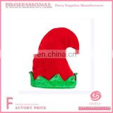 Hot sale christmas red and green elf hat with ears