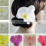 Fashion Summer style orchid flower hairpin,fabric holiday hair jewelry,bride wedding barrettes