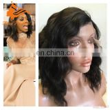 short lace front wig wavy bob wigs for black women lace front wig with stretch lace back