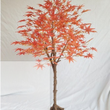 steel structure artificial fiberglass silk cloth leaves maple tree