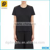 2016 Cheap T shirt Made in China Cotton Comfortable Lace-Back T shirt