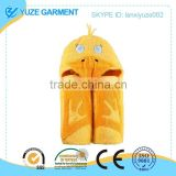 yellow duck hooded towel for kids OEM