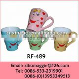 Belly Shape Wholesale Oversized Disposable Ceramic Coffee Cup with Nose for Kids