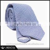 Mens Navy Seersucker Tie