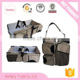 3 in 1 Diaper Bag Travel Bassinet Multi-purpose Baby Diaper Tote Bag Bed