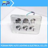 12V New 18W led motorcycle head light with 6pc super brightest led and 2pc strobe led