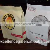 wax coated paper food bag, heat sealing snack paper bag 2014