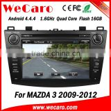 Top Version Android 4.4.4 car dvd 2 din for mazda 3 mp3 player radio gps 1080p 2009-2012