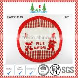 Red and white christmas tree skirt 3D