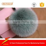 STABILE Knitted Fur Pom Pom Bobble Hat/raccoon fur pompom/leather and fur keychain wholesale
