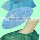 Medical surgical Disposable green blue PP polypropylene shoe cover non woven shoecovers for doctors nurses