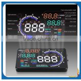 5.5 Inch Yellow White LED OBD-II Car HUD Speedometer Head Up Display MPH/KMH /Rotate Speed/Water temperature/Speed alarm                                                                         Quality Choice