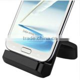 Wave-Shape Universal Charging&Data Sync Dock for Galaxy S4/S3/note2 with Adjustable Micro-USB Connector and Case Support
