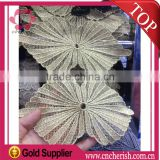 2016 hot sale fancy dress flower Lip shape lace trimming bridal lace trim for women dress