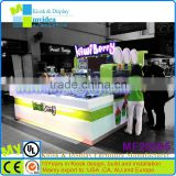 Factory direct sale and high quality juice bar design/ mall food kiosk/fast food kiosk for sale