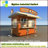 New designed style for durable outdoor food kiosk,mobile coffee carts kiosk,bubble tea kiosk