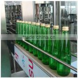 Automatic beer glass bottle filling production line