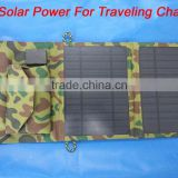 Factory Supply Solar Panel 7W Solar Energy Solar Charger Waterproof Solar Power Folding Bag USB Phone Charger