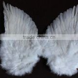 "23""*11"" Good Quality Craft Supplies White Angel Wings Use On Singer Show Decorations"