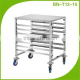 Restaurant Equipment Single Row 7 Layer Stainless Steel Bakery Bread Tray Trolley BN-T13-15
