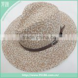 color mixture paper straw hat with rope band                                                                                                         Supplier's Choice