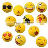 "12"" Yellow Color Emoji Inflatable Beach Ball For Wholesale"