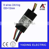 capsule slip ring 012-9c dia.`12mm 9 wires 2A/9wires