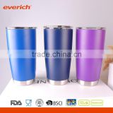Wide mouth Vacuum Insulated Colorful Powder Coating stainless steel Beer Cup                                                                         Quality Choice