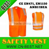 orange Polyester Mesh Economy Class 2 Pockets High Visibility Reflective safety vest