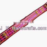 Beautiful Beaded Mirrors Belts Ethnic Throw India