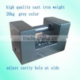 20kg class M1 mass, high quality cast iron elevator weight, load test weights,grey color