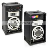 Disco Jam 600 Watt 2-Way PA Speaker System, SD Card Reader, FM Radio, AUX/MP3 Input, USB Charging