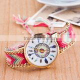 Braided Friendship Watch Zinc Alloy with iron chain Wool & Glass women wrist watches
